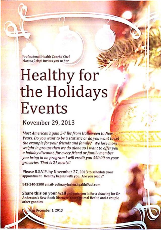 Don't Miss Black Friday Event!! Healthy For the Holidays!!